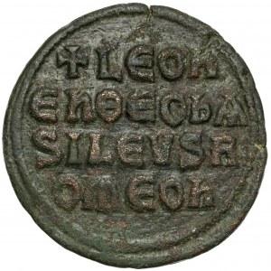 Bizancjum, Leon VI (886–912 n.e.) Follis, Konstantynopol