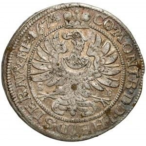 Śląsk, Sylwiusz Fryderyk, 6 krajcarów 1674 SP, Oleśnica