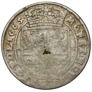 Jan II Kazimierz, Tymf Bydgoszcz 1665 AT - 2x data - b.rzadki