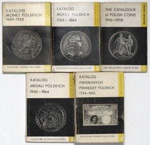 Biblioteczka... DESA - Katalogi banknotów, monet i medali (5szt)
