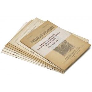 Bydgoskie Wiadomości Numizmatyczne 1975-1988 + Przegląd Bydgoski 1937 (8szt)