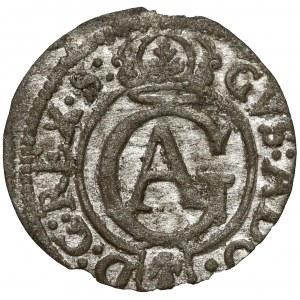 Gustaw II Adolf, Szeląg Elbląg 1630 - prosta