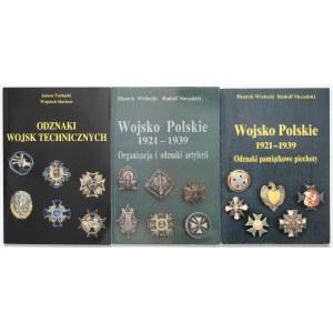 Wojsko Polskie - odznaki Artylerii, Piechoty i wojsk Technicznych