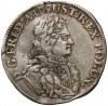 August II Mocny, 1/6 talara (1/4 coselguldena) 1707, Drezno - b.rzadki