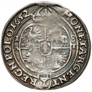 Jan II Kazimierz, Ort Poznań 1652 AT - REGN POLO - B.RZADKI