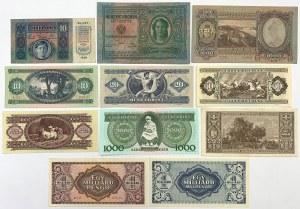 Austria i Węgry, zestaw banknotów (11szt)