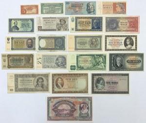 Czechoslovakia & Slovakia, big lot of banknotes (20pcs)