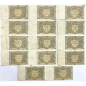 50 złotych 1925 - zestaw (14szt)