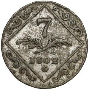 Austria, Franciszek II, 7 krajcarów 1802 G - Nagybanya