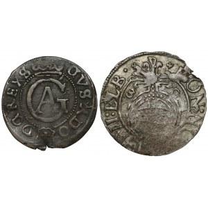Gustaw II Adolf, Szeląg 1634 i półtorak 1630, Elbląg (2szt)