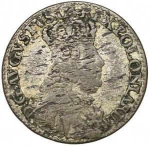 August III Sas, Trojak Lipsk 1754 - wąskie popiersie