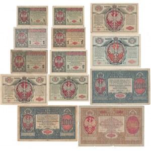 Zbiorek marek 1916 roku w tym 1 mkp jenerał B (13szt)