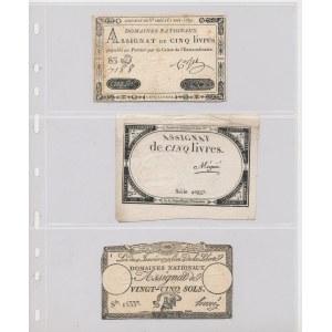 France, set of banknotes (8pcs)
