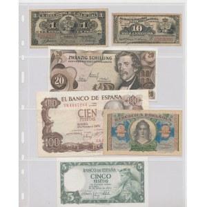 Spain, Cuba, Hungary, Suriname, Austria, Cuba - lot of 16 banknotes
