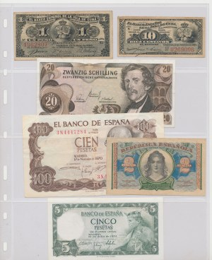 Hiszpania, Kuba, stare Węgry itp. - zestaw (16szt)