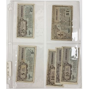 USA, Military Payment Certificate, 5 Cents - 5 Dollars (43pcs)
