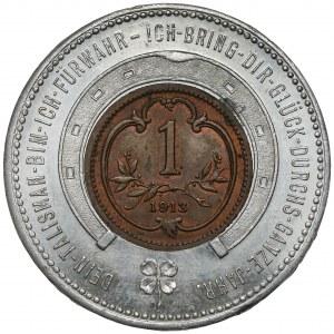 Austro-Węgry, Talizman z 1 halerzem 1913