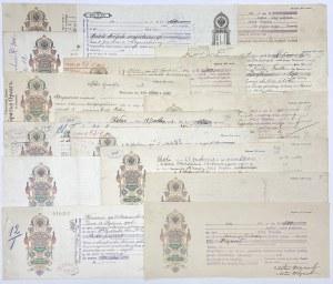 Zabór rosyjski, weksle Polska 1905-1914 (17szt)