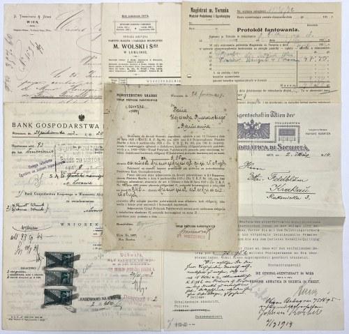 Dokumenty związane obrotem gospodarczym (6szt)