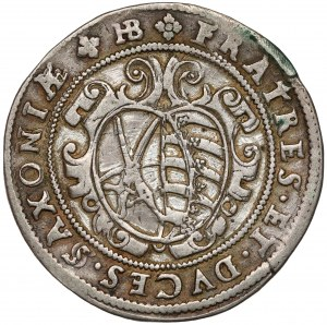 Sachsen, Christian II., Johann Georg I. und August, 1/2 Taler 1596, HB-Dresden