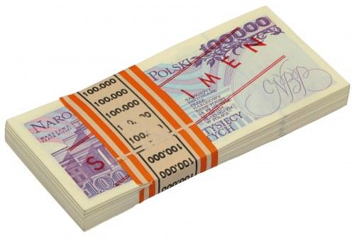 Paczka bankowa 100.000 zł 1993 - WZÓR - A 0000000 - No.0401-0500