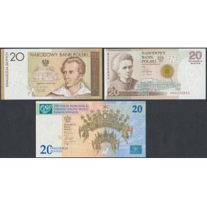 Banknoty kolekcjonerskie - Skłodowska, Słowacki i 300-lecie Koronacji ... (3szt)
