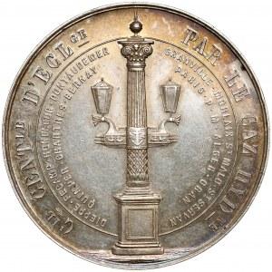 Francja, Medal Oświetlanie Paryża 1852 - srebro
