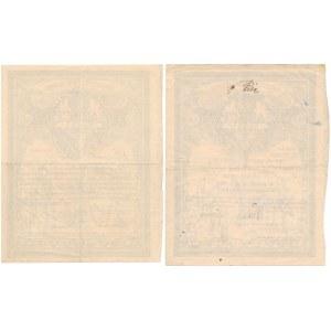 5% Poż. Długoterminowa 1920, Świadectwo tymczasowe 100 i 5.000 mkp (2szt)