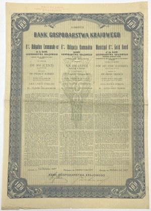 BGK Obligacja 8% Komunalna 100 zł 1927