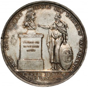 Prusy Fryderyk Wilhelm II, Medal 1789, 100-lecia Kolonii Palatynatu w Magdeburgu