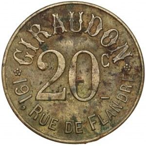 Belgia, Giraudon, Żeton 20 centimes