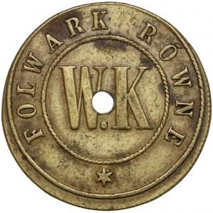 Folwark Równe, W.K., Żeton o nominale 20