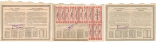 Warszawa VI-ta Poż. Konwersyjna, Obligacje 1926 r. (3szt)