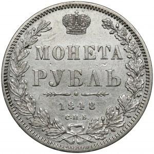 Rosja, Mikołaj I, Rubel 1848 HI, Petersburg