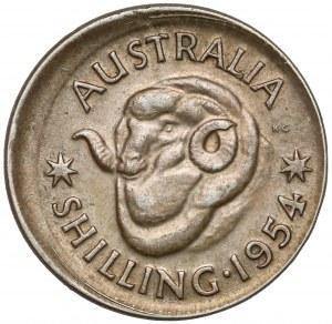 DESTRUKT, Australia, Szyling 1954 - niecentryczne bicie