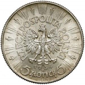 Piłsudski 5 złotych 1934 - urzędowy