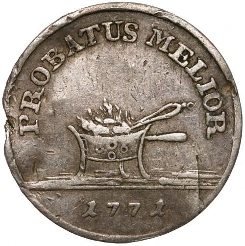 Poniatowski, PRÓBA złotówka 1771 - tygiel