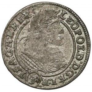 Śląsk, Leopold I, 3 krajcary 1660 GH, Wrocław