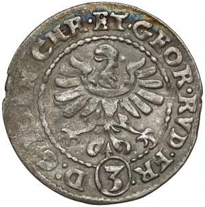 Śląsk, Jan Chrystian i Jerzy Rudolf, 3 krajcary 1610, Złoty Stok