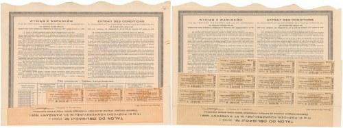 Warszawa IX-ta Poż. Konwersyjna, Obligacje 1930 r. (2szt)