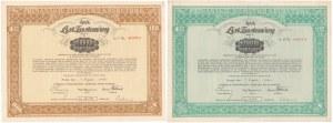 Poznań, PZK, Listy zastawne 100 i 1.000 zł 1935 (2szt)
