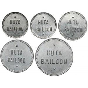 Huta Baildon (Katowice), Kantyna, 5 groszy - 1 złoty, zestaw (5szt)