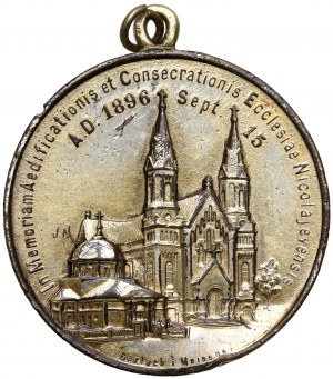 Medal Konsekracja Kościoła Św. Józefa w Mikołajewie 1896 (Gerlach i Meisner Warszawa)