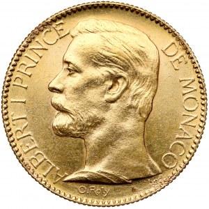 Monako, Albert I, 100 franków 1895-A, Paryż