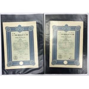 Lwów Poż. Konwersyjna Król. Stoł. 1930 r. Obligacje na 115-1575 zł (5szt)