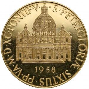 Watykan, Pius XII, ZŁOTY Medal 1958 - Orate Fratres