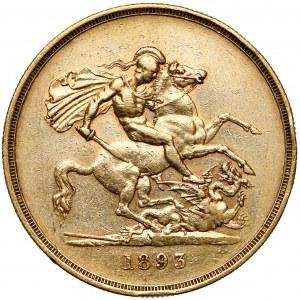 Wielka Brytania, Wiktoria, 5 funtów 1893 - rzadkie