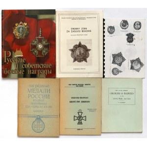 Ordery i odznaczenia Rosji - zestaw (6szt)