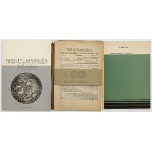 Dzieje grosza i złotego, Mękicki + pierwszy numer WNA 1889 i kolekcja Niewiteckiego (3szt)