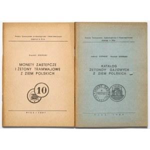 Katalogi żetonów gazowych i tramwajowych z ziem polskich, Sikorski - Schimidt (2szt)